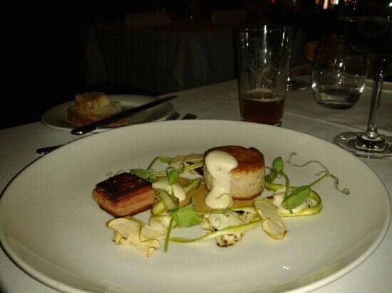 Henry's Restaurant :                   Henry's rabbit terrine served with cripy pork belly & apple shards - delish!
