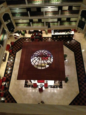 Crowne Plaza Hotel Antalya:                   looking down from 7th floor