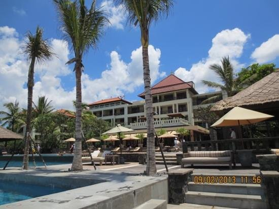 The Legian Bali:                   Indian Ocean view of the hotel