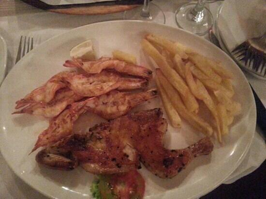 Costa do Sol:                   Togetherness -1/2 chicken & 3 prawns.