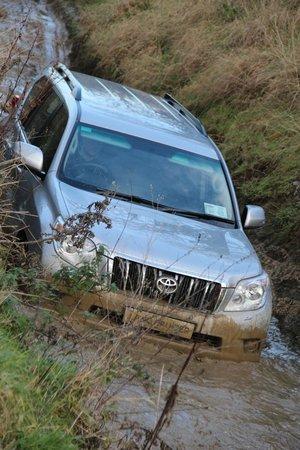 Mondello Park International Motor Racing Circuit: Toyota Ireland try the water splash with their fleet customers