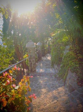 Hotel La Casa del Mundo: Steep walk down from room 12!