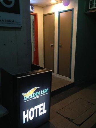 Golden Leaf Hotel :                   the entrance?