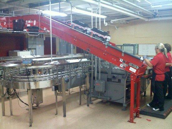 Maker's Mark:                   The bottling line                 
