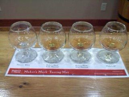 Maker's Mark:                   Tasting at the end of the tour