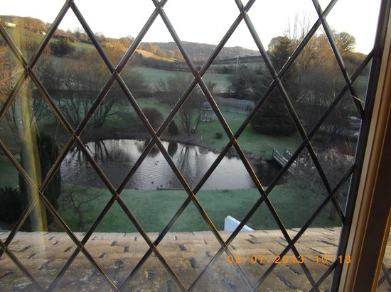 Damson Dene Hotel:                                     View of duck pond from room 12