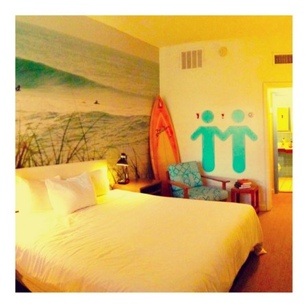 Postcard Inn on the Beach:                   My king standard room