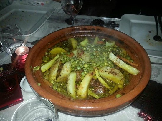 Riad Les Jardins Mandaline:                   Lamb & vegetable tagine - yummy