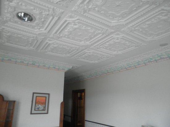 Hotel Crespo: Detalle del techo