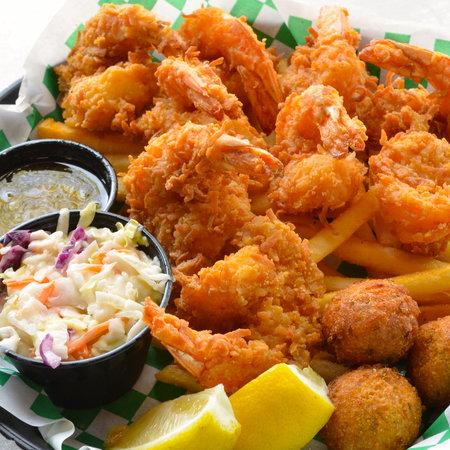 KaCey's Seafood and More: Coconut Shrimp Basket