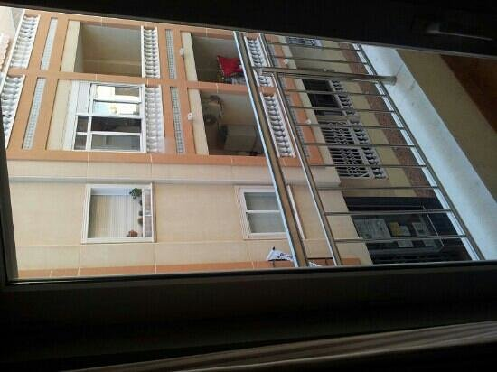 Hotel Madrid:                   utsikt