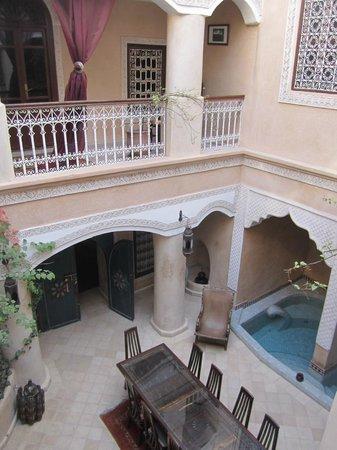 Riad Lorsya:                                     Raid Lorsya courtyard