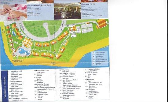 Resort Map Picture Of Occidental Tamarindo Playa Langosta