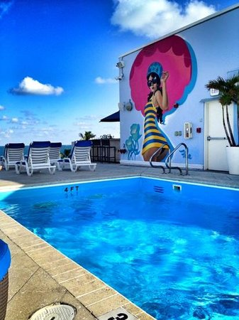 Suites at Congress Ocean Drive:                   the roof top pool