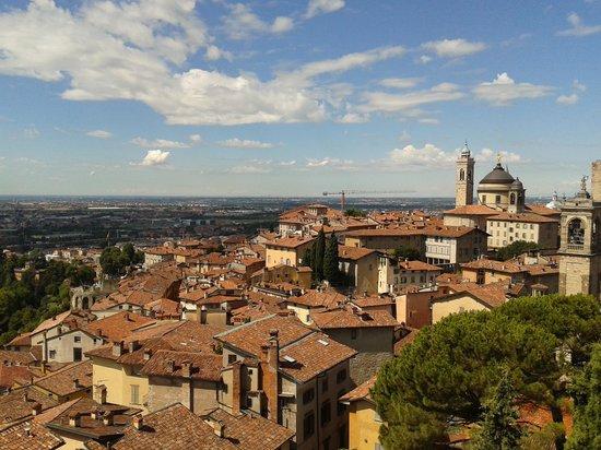 Rocca di Bergamo : vista spettacolare