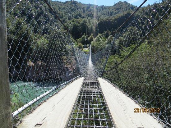 Buller Gorge Swingbridge Ltd:                   Puente colgante                 