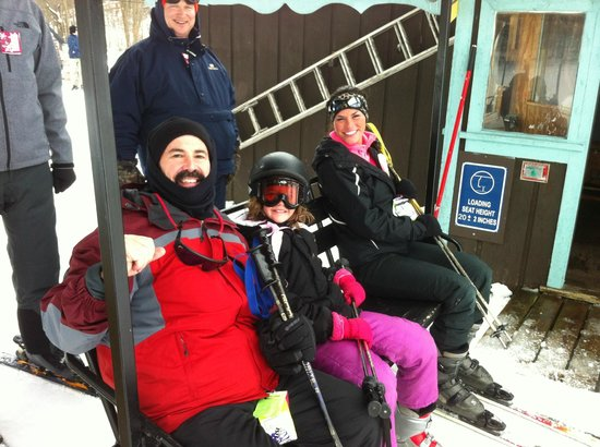 T & R Inn Between the Lakes:                                     SKI lift at Swiss Valley