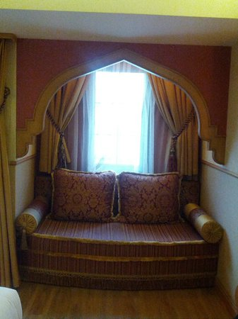 Hotel Sultania:                   The sofa in our room