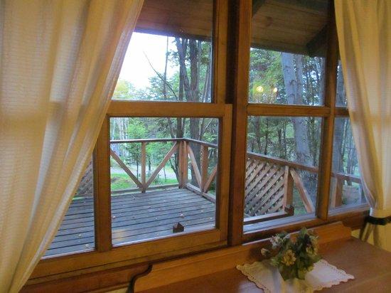 Aldea Nevada - Cabanas:                   vista desde el dormitorio principal, hermosa!!