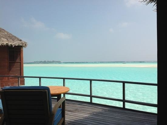 Anantara Dhigu Maldives Resort:                   Sunrise water overwater villa