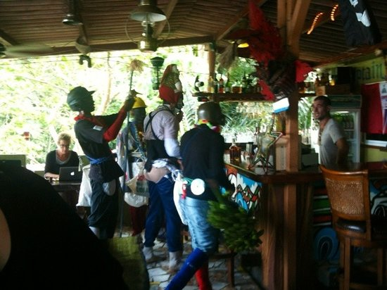 Captain Jack's Canopy Bar and Restaurant: congos at the bar