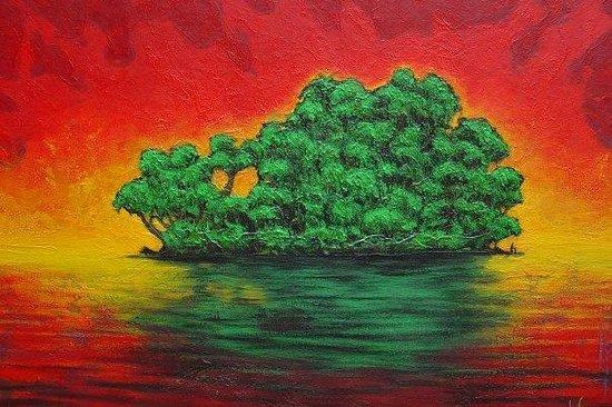 """Monteverde, Costa Rica:                   """"nuestra isla"""" mixta 58/89cm"""