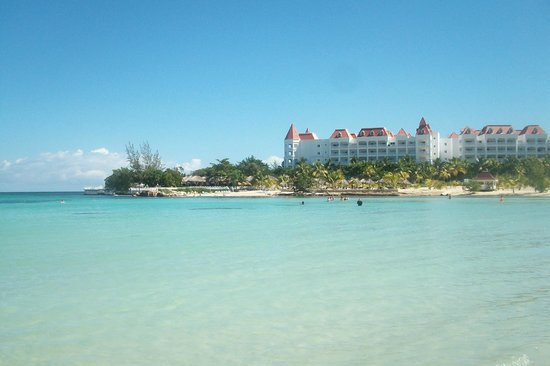 Grand Bahia Principe Jamaica:                   View from the west side of teh beach