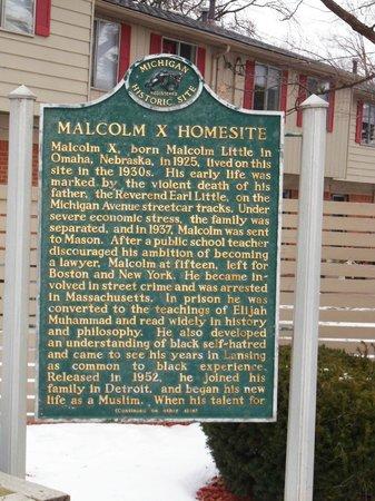 Malcolm X  Homesite Historical Marker