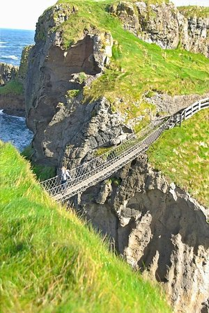 Carrick-A-Rede Rope Bridge: Way High Up