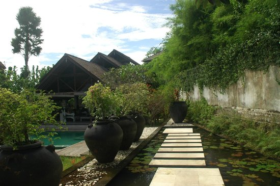 Oazia Spa Villas:                   Walking thru our villa entry door, you walk atop a koi pond.