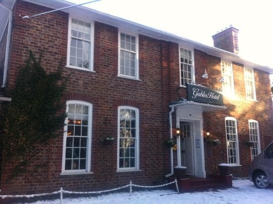 The Gables Hotel:                   Snowy morning