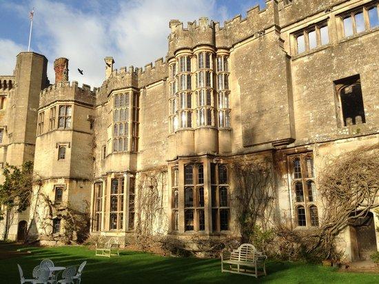 Thornbury Castle and Tudor Gardens:                   View from the garden