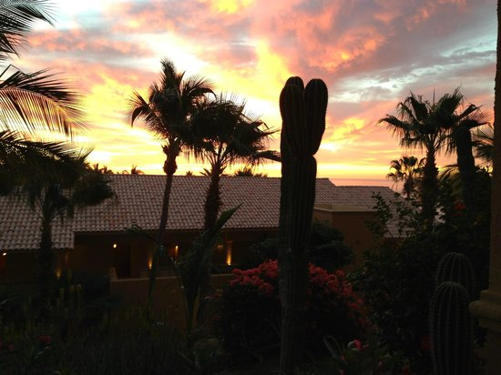 Grand Fiesta Americana Los Cabos All Inclusive Golf & Spa:                                     sunrise view from my room