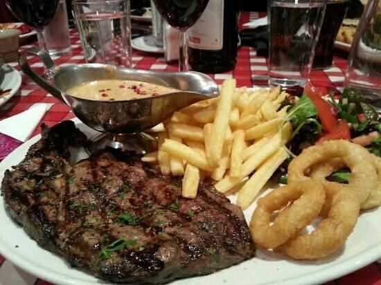 La Taverna:                   My amazing steak.