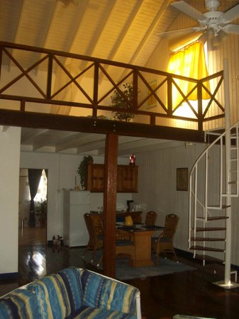 Villa Marie Guesthouse:                   bedroom, dining and kitchen leading to bathroom