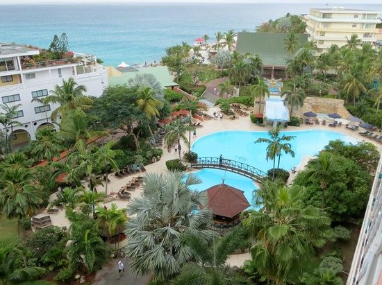 Sonesta Maho Beach Resort & Casino:                   View from our room of the pool area and ocean