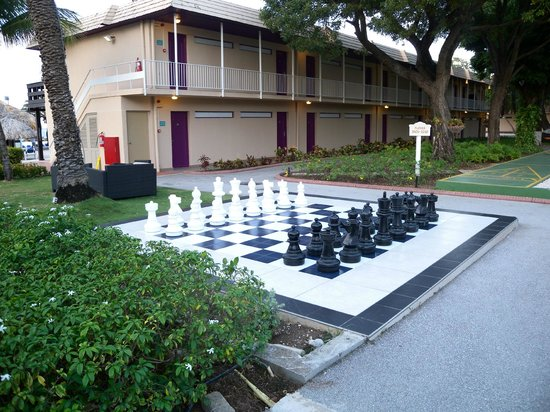 Sunscape Curacao Resort Spa & Casino - Curacao:                   Giant Chess game in the garden