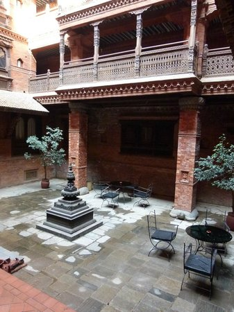 Kantipur Temple House: internal courtyard