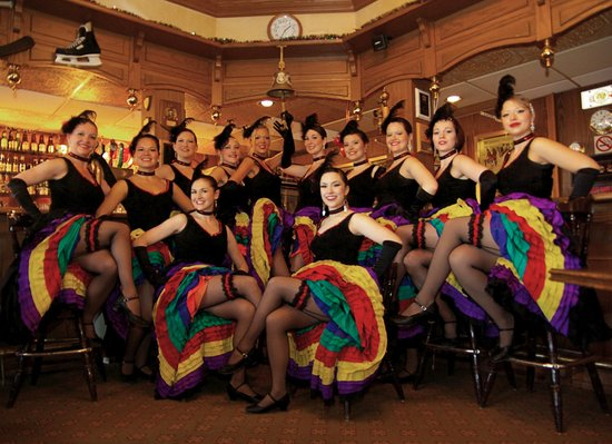 Gold Rush Inn: Rendezvour Can Can Dancers at Gold Pan Saloon