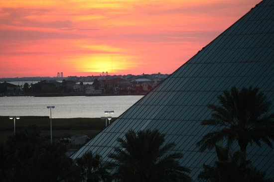 Moody Gardens Hotel Spa & Convention Center:                   Enjoy the sunset from your balcony!