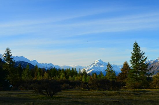 Mount Cook Glentanner Park Centre:                   Stunning view from our powered site