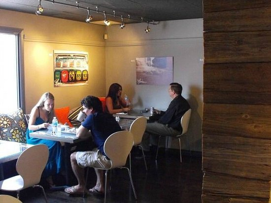The Squirrel Cage: People Enjoying the YUMMY Food