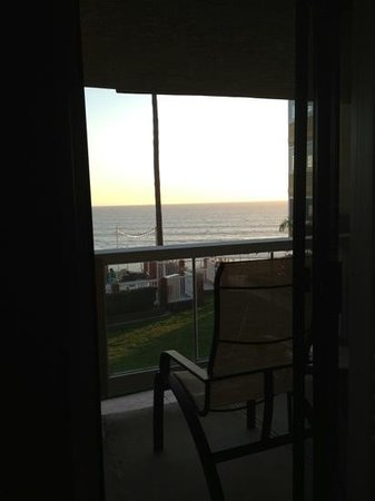 SeaCrest OceanFront Hotel:                   sunset