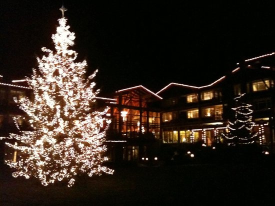 Alderbrook Resort & Spa:                                     Tree-lighting time of year.