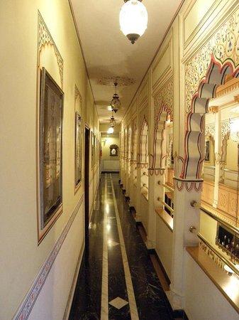 Umaid Mahal:                   Balcony hall way to the rooms