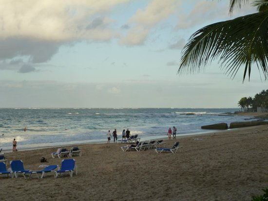 San Juan Marriott Resort & Stellaris Casino:                   The beach