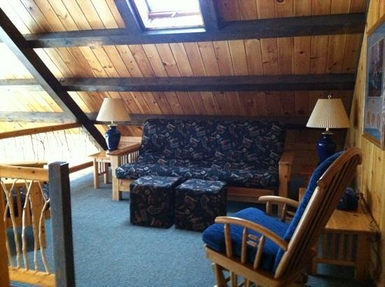 The Mountainview Resort:                   the loft in cabin 20