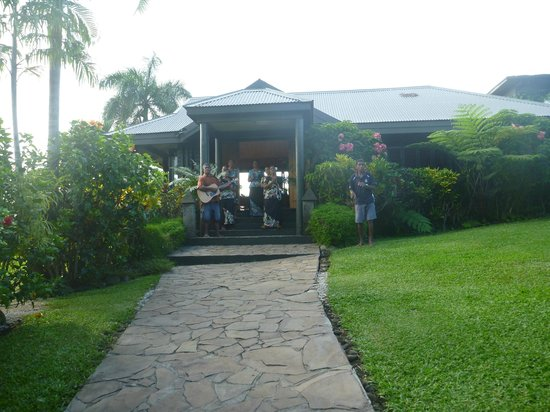Taveuni Island Resort & Spa:                   our reception