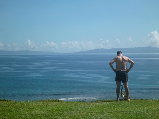 Taveuni Island Resort & Spa:                   the view from the room with our friend Dyson
