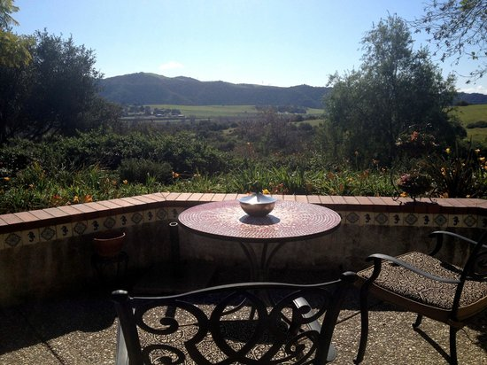 The Casitas of Arroyo Grande:                   View from room's patio